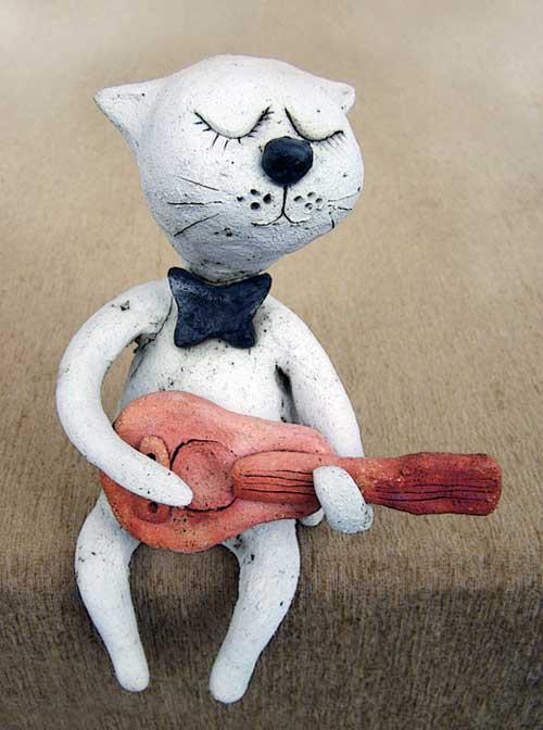 Кот с гитарой коты кошки котики