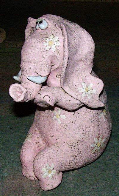 """Розовый слон """"вцветочек"""""""